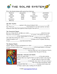 solar system worksheets 4th grade the best and most