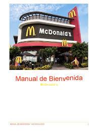 manual de bienvenida mcdonalds
