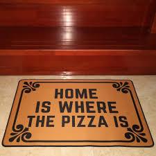 funny pizza doormat