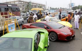 exotic cars lined up city police refuse to be taken for a ride seize 10 luxury cars