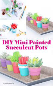 diy mini painted succulent pots the crafting