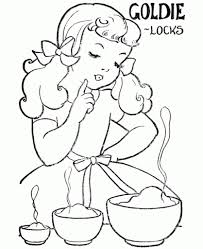 goldilocks and the three bears coloring pages az coloring pages