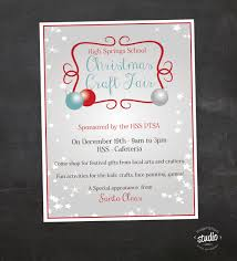 Christmas Decorations To Buy In Pretoria by Christmas Craft Fair Flyer Event Custom Printable Pta Flyer