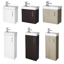 Bathroom Vanity Units With Basin by Compact Small Vanity Units Basin Sink Storage Bathroom Wall Hung