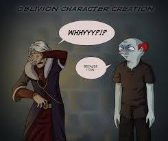 Meme Video Creator - oblivion character creation video game logic know your meme