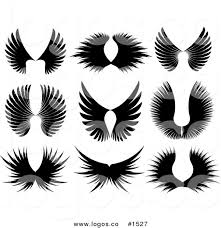 royalty free vector black majestic wing silhouettes logos by kj