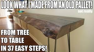 making a live edge table making a live edge table not learned on pinterest youtube