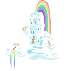 rainbow cloud castle by sierraex on deviantart