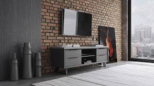 modern adal media cabinet concrete on gray oak zuri furniture