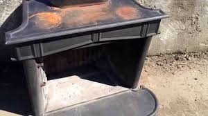 Franklin Fireplace Stove by Franklin Stove Disassemble Remove Parts Youtube