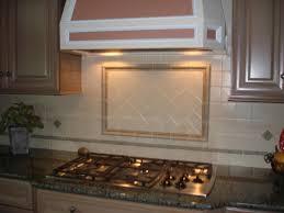 kitchen brown wooden kitchen cabinet with cream glass mosaic