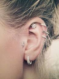 best earrings for cartilage 50 beautiful ear piercings and design