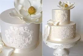 lace wedding cakes stencilled lace wedding cakes cake magazine