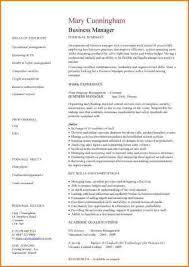 6 resume templates business skills based resume