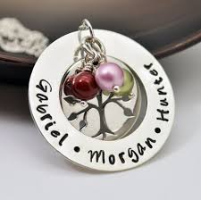 mothers day jewelry personalized personalized mothers family tree necklace sted