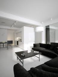 Modern Minimalist Black And White Lofts - Modern minimal interior design