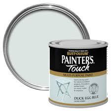 blue plastic metal paint diy