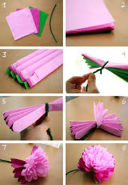 tissue paper flowers week 18 diy tissue paper peony flower doable and turns