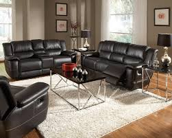 Black Leather Reclining Sofa And Loveseat Bonded Leather Reclining Sofa Set Newport Black Sofa