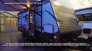 sle floor plans heartland trail runner sle tr sle 21