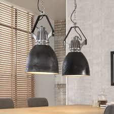Esszimmer Lampe Schwarz Industie Lampe Schwarz Silber Hängeleuchte Im Industriedesign