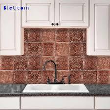 kitchen backsplash decals copper tin style ceiling tile wall decals 4 designs x 11 u003d44 pcs
