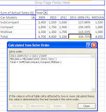 Excel 2010 Pivot Table Excel Pivot Tables Insert Calculated Fields U0026 Calculated Items
