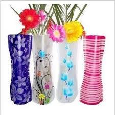 Creative Vase Ideas Unbreakable Foldable Reusable Plastic Flower Vase Creative Folding
