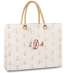 nautical bags nautical anchor tote bag personalized