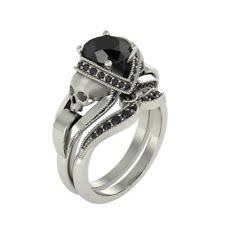skull wedding ring sets diamond skull ring ebay
