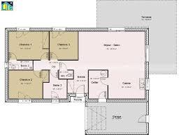 plan appartement 3 chambres plan maison en u 3 chambres immobilier pour tous plain pied 100m2