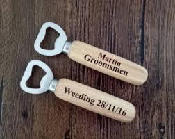 Wooden Groomsmen Gifts Personalized Wine Beer Bottle Opener Groomsmen Gifts