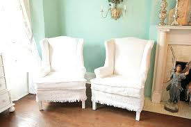 chair slipcovers australia wingback chair slipcover items similar to shabby chic chair s