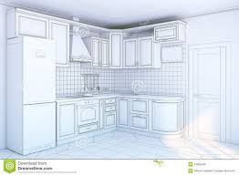 kitchen cabinets in interior stock photo image 24805340