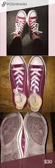 Comfortable Converse Shoes Maroon Converse Maroon Low Top Converse Great Used Condition