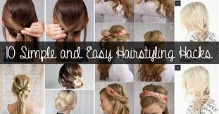 10 simple and easy hairstyling hacks for those lazy days u2013 cute