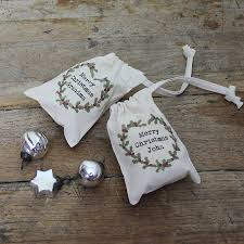 personalised christmas holly mini gift bag by snapdragon