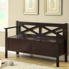 Bedroom Bench With Back Storage Bench With Back Treenovation