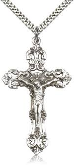 crucifix necklace silver images Large crucifix necklace for men sterling silver 0648ss 24s jpg
