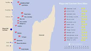 Map Cozumel Mexico by Scubacaribe U2013 Cozumel