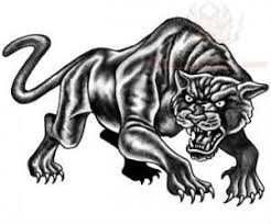 black ink jaguar tattoo design