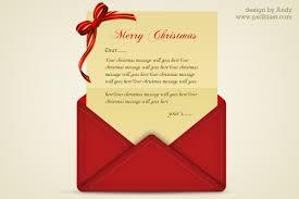 christmas greetings letter psd psdblast