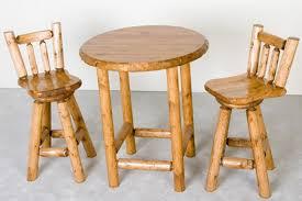 Rustic Pub Table Set Log Pub Table Rustic Pub Table Sets