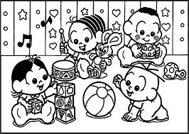 turma da monica baby playing game coloring page wecoloringpage