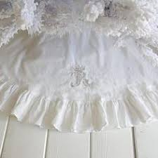 Shabby Chic Skirts by Shabby Chic Christmas Tree Skirt Soft Blue Tattered Torn Lace