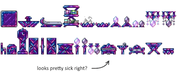 Terraria Bookcase Re Logic Why Hasn U0027t Crystal Furniture Been Implemented It U0027s By