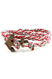 wrap bracelet with anchor images Cotton braided bracelet black domo beads jpg