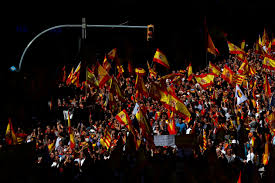 thousands protest in barcelona against catalan independence metro us