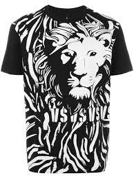 versus lion print t shirt b7088 men clothing t shirts u0026 vests m