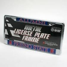 msu alumni license plate frame fresno state bulldogs alumni metal license frame